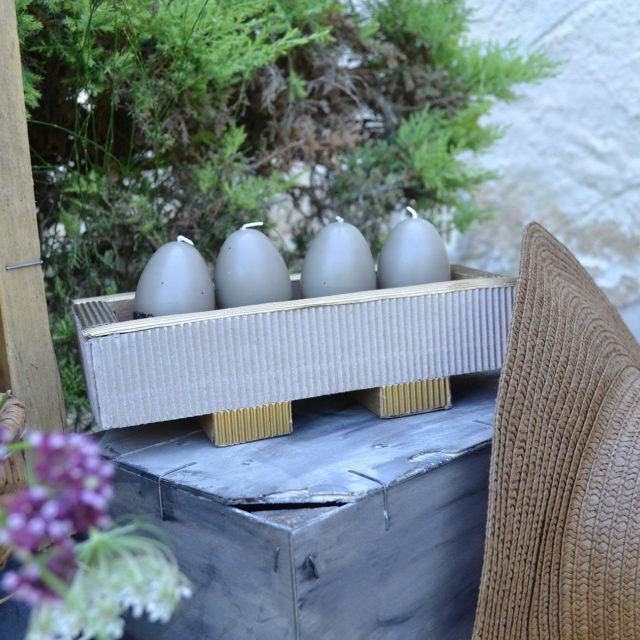 Support bougies en carton - Meuble en carton - Esprit Recup'