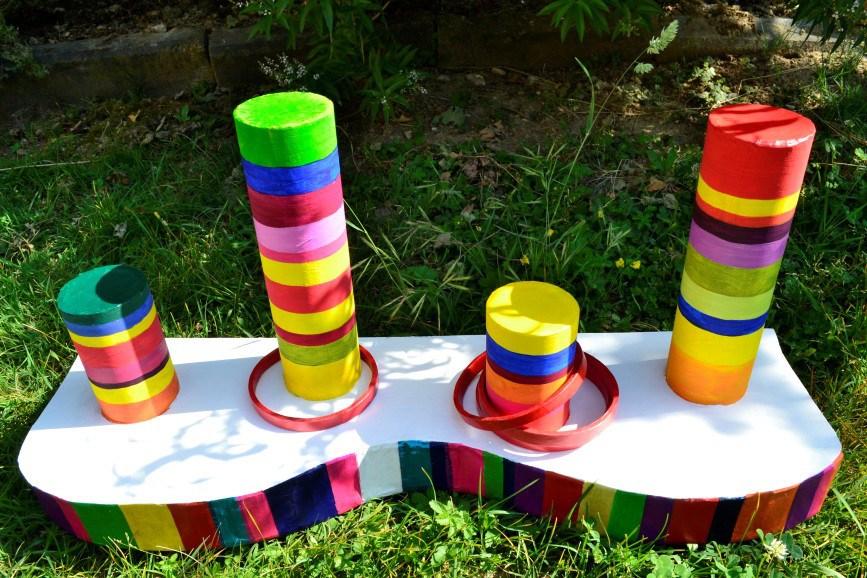 Jeux enfants multicolors - Meuble en carton - Esprit Recup'